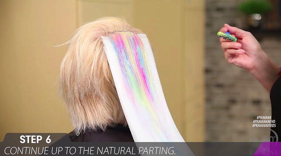 Yeni Yilin Ilk Renkli Sac Trendi Geldi Sulu Boya Saclar