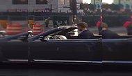 Парень зажигает под Бруно Марса, сидя в автомобиле