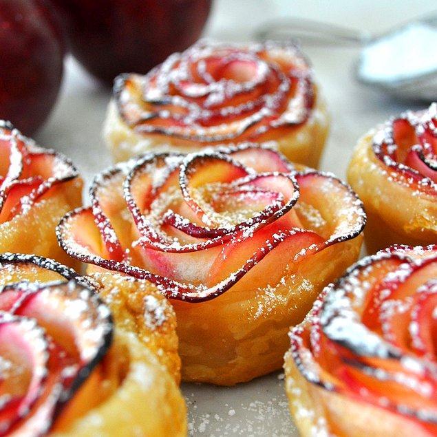 2. Elma en güzel tatlılara imza atar, bu seferkilerin şekli de pek güzel!