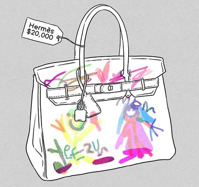 Efsane çantanın ilk çizimleri o yolculukta ortaya çıkıyor.