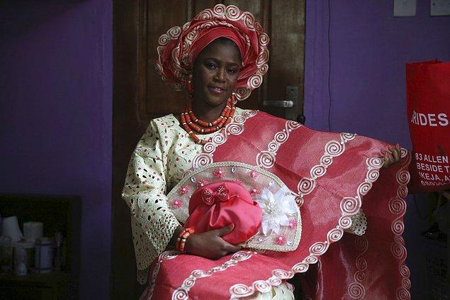 19. Nijeryalı bir gelin.