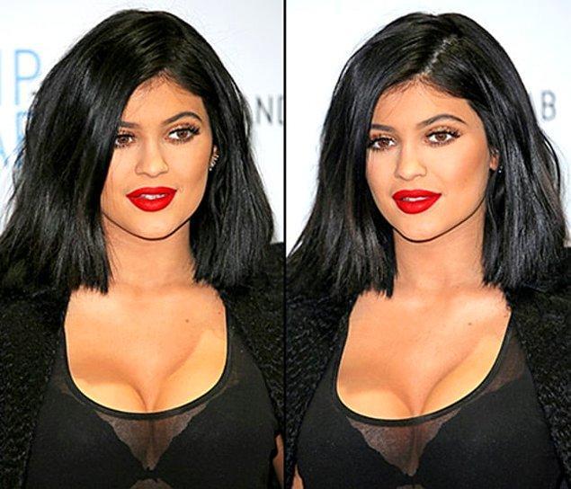 Kardeşi Kylie Jenner'ın yaşadığı bu vücut kontürü faciası ise unutulmaz.