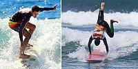Парень без зрения стал профессиональным серфером, используя необычную технику
