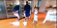Близняшки и голодный папа в борьбе за холодильник