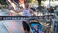Полумарафон с коляской: счастливый отец-победитель