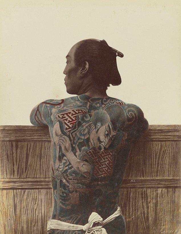12. Irezumi dövmeli bir Japon, 1875