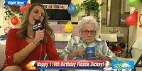 Интервью со 110-летней женщиной в её день рождения