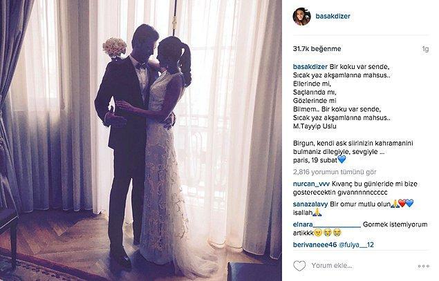 Ardından da Kıvanç'a olan aşkını, bu romantik fotoğraf ve altına iliştirdiği şiirle Instagram hesabından bir kez daha duyurdu.