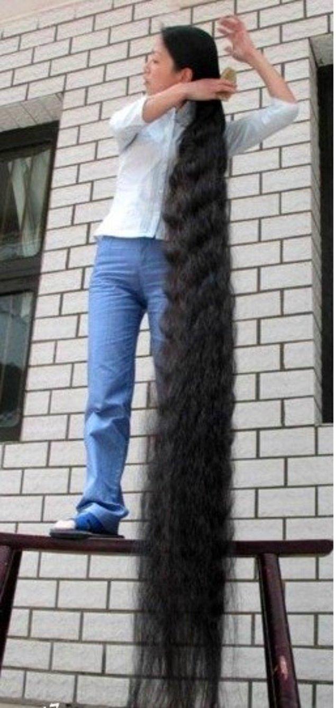 7. Gerçekten boyunu aşan saç uzunluğu