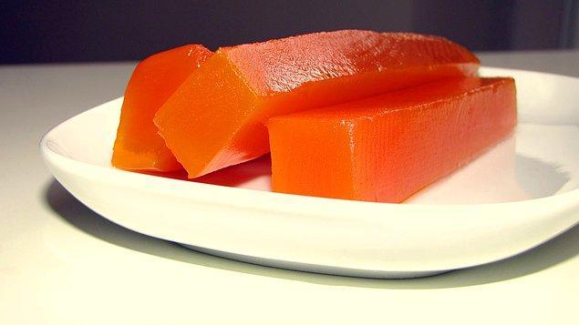 6. Evet turunçgillerden sıkıldınız o zaman gelin kabak reçeline hem de bu sefer kireç kaymağında olandan!