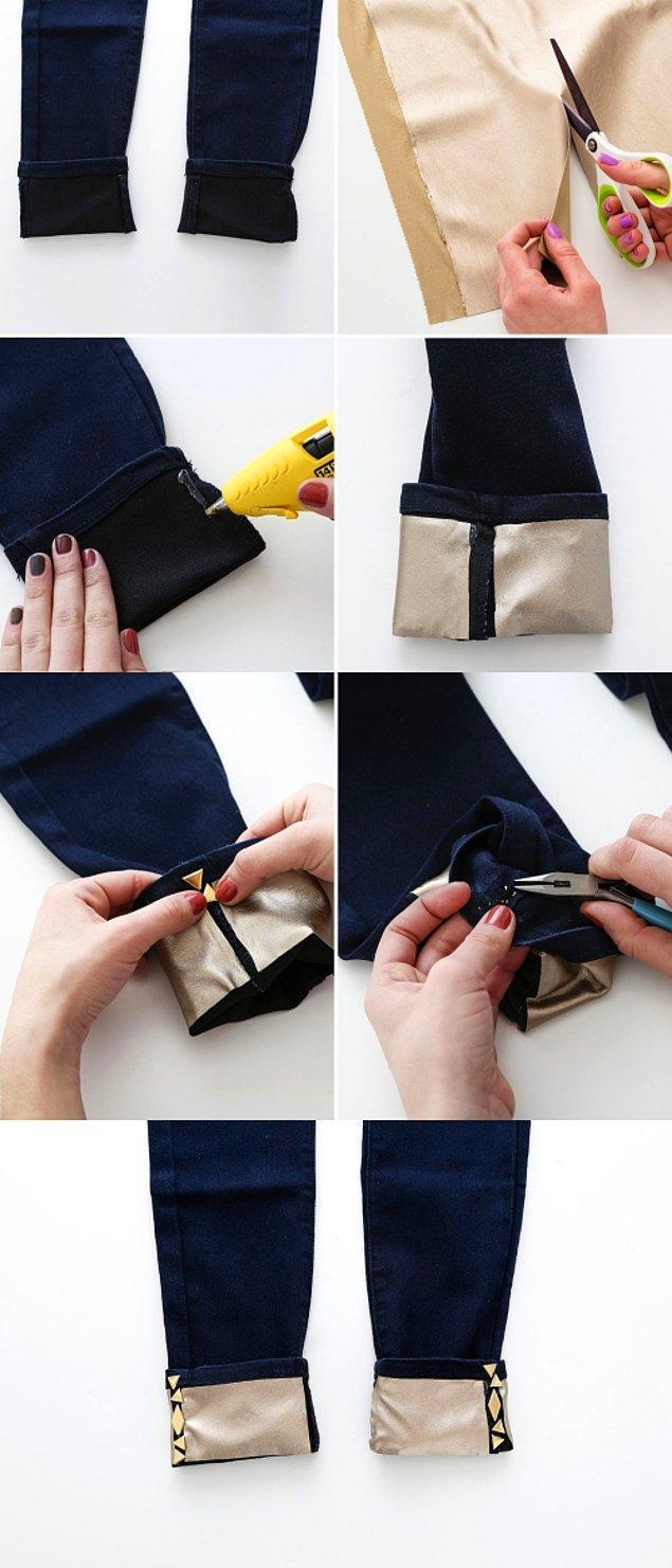 4. Hatta birazcık el beceriniz varsa, kumaş yapıştırıcısı ile olayı bir adım daha ileri götürebilirsiniz.