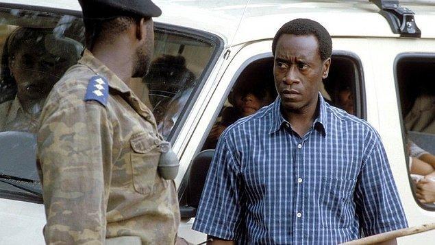 "11. ""Hotel Rwanda (2004)"" filmindeki rolüyle ""Don Cheadle"""