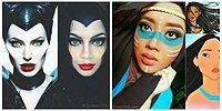 Девушка в хиджабе косплеит диснеевских персонажей