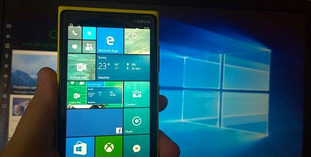 8. Windows 10 Mobile'ın kullanışlılığına da değinmek gerek.