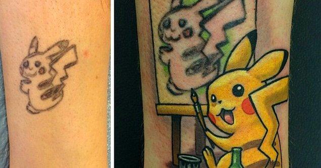 Bonus: Pikaçu'nun bu dövmesi de oldukça revaçta.