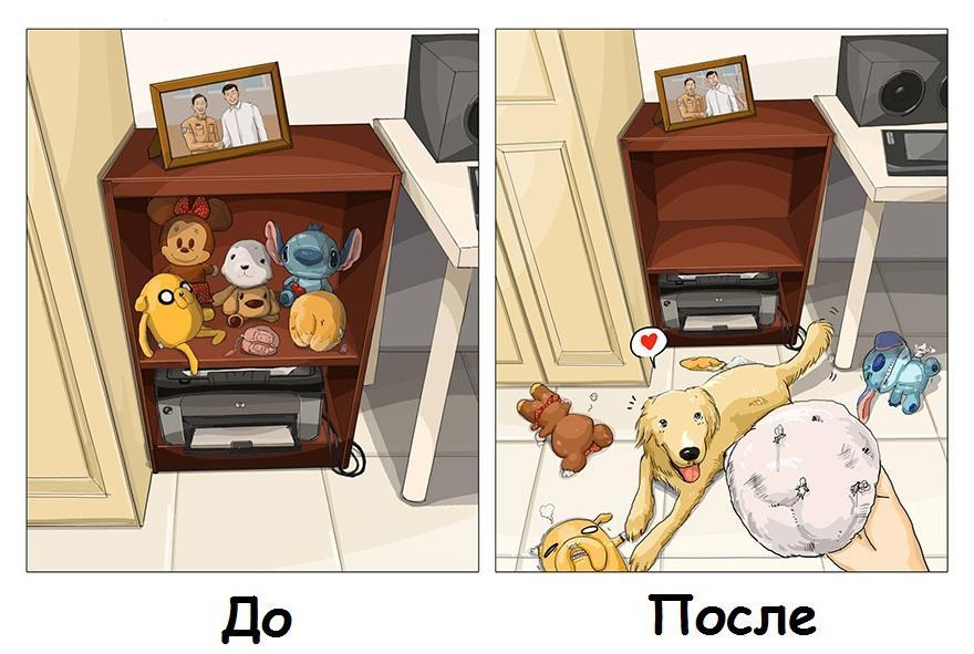 Картинки до и после прикол, открытки