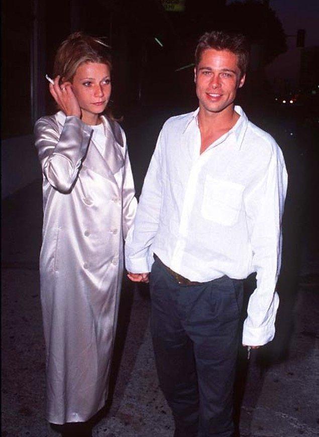 16. Gwyneth Paltrow ve Brad Pitt, 1995