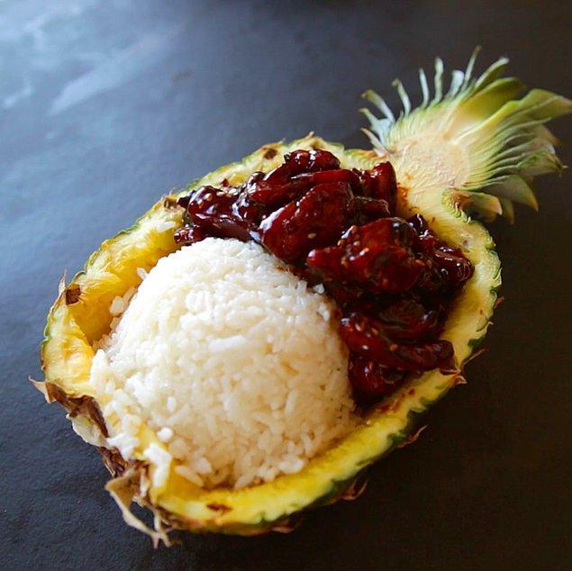 2. Teriyaki Sos+Ananas+Kaju Fıstık+Susam+Taze Soğan