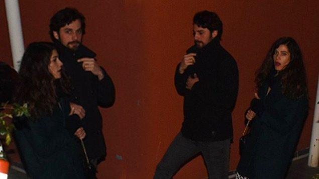 Berrak Tüzünataç ile ilk kez kameralara yakalandıklarında ise hiçbir açıklamada bulunmamayı tercih ettiler.