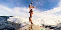Акробатические этюды, стоя на серфборде