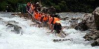 Japanese People Do All Kinds Of Weird Stuff: Crazy People Who Do Rafting On Lumber Blocks