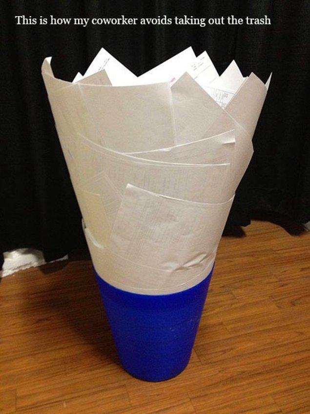 12. Küçük çöp kutusunu ıskalamaya son