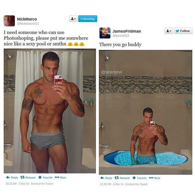 15. Adamların da bu kumsal ve havuz merakı?