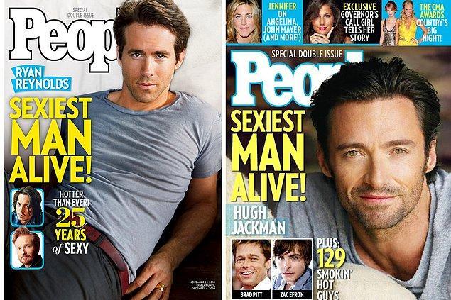 """12. """"Yaşayan en seksi erkek"""" muhabbetiyle Hugh Jackman'a takılmadan edemedi. 😄"""