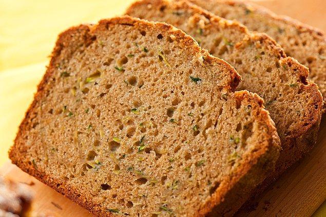 8. Bir sabah kahvaltıda kabaklı tazecik ekmeğe ne dersiniz?