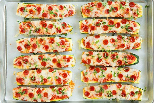 11. Pizzanın her hali güzel de kabaklı olanı bir başka güzel!
