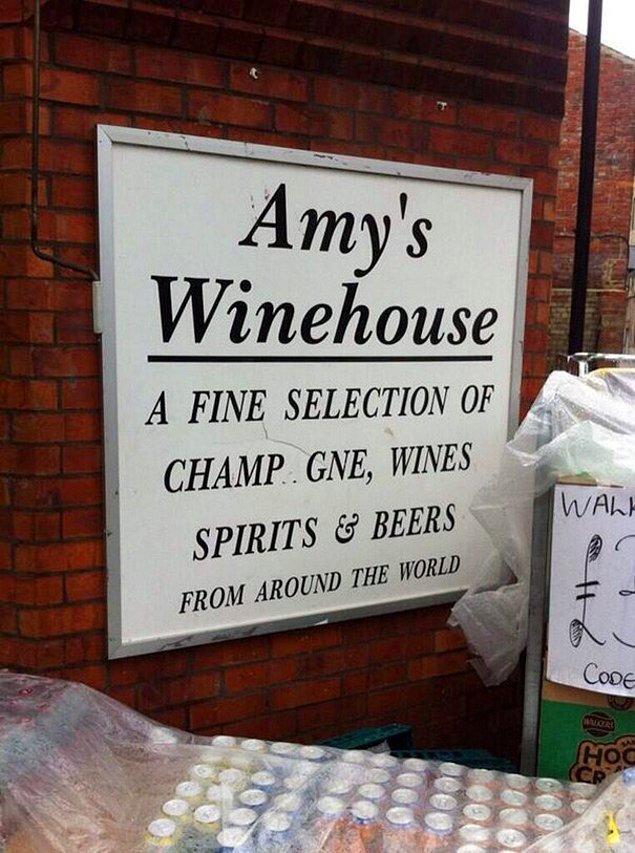 9. Amy's Winehouse Şarapevi