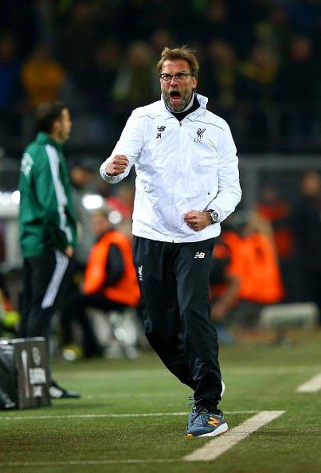 Maçta ilk gol atıldığında Jürgen Klopp'un sevinci de kameralara yansıdı