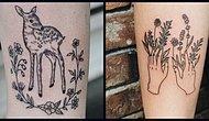 Утонченные весенние татуировки для любителей природы