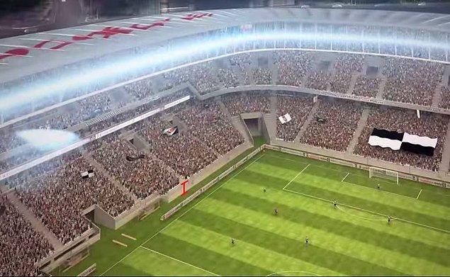 7. 350 araçlık bir otopark kapasitesi bulunan Vodafone Arena'da, tribünler ve saha çizgisi arasındaki mesafe de çok yakın.