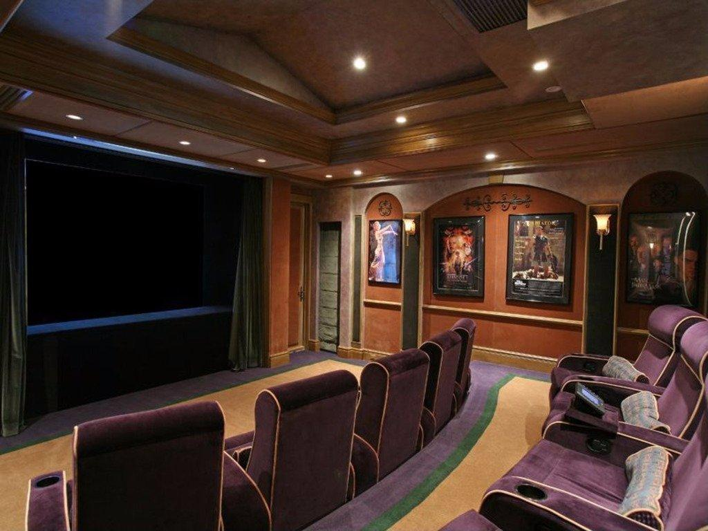 12. The Home Theater Can Accommodate 20 Guests In Plush Seats.