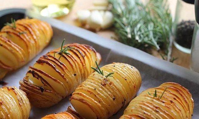 7. Patates+Tereyağı+Biberiye+Kimyon+Zeytinyağı