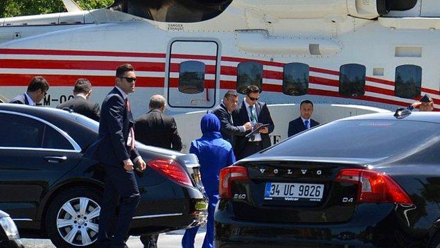 Erdoğan ailesi nikâha helikopterle geldi