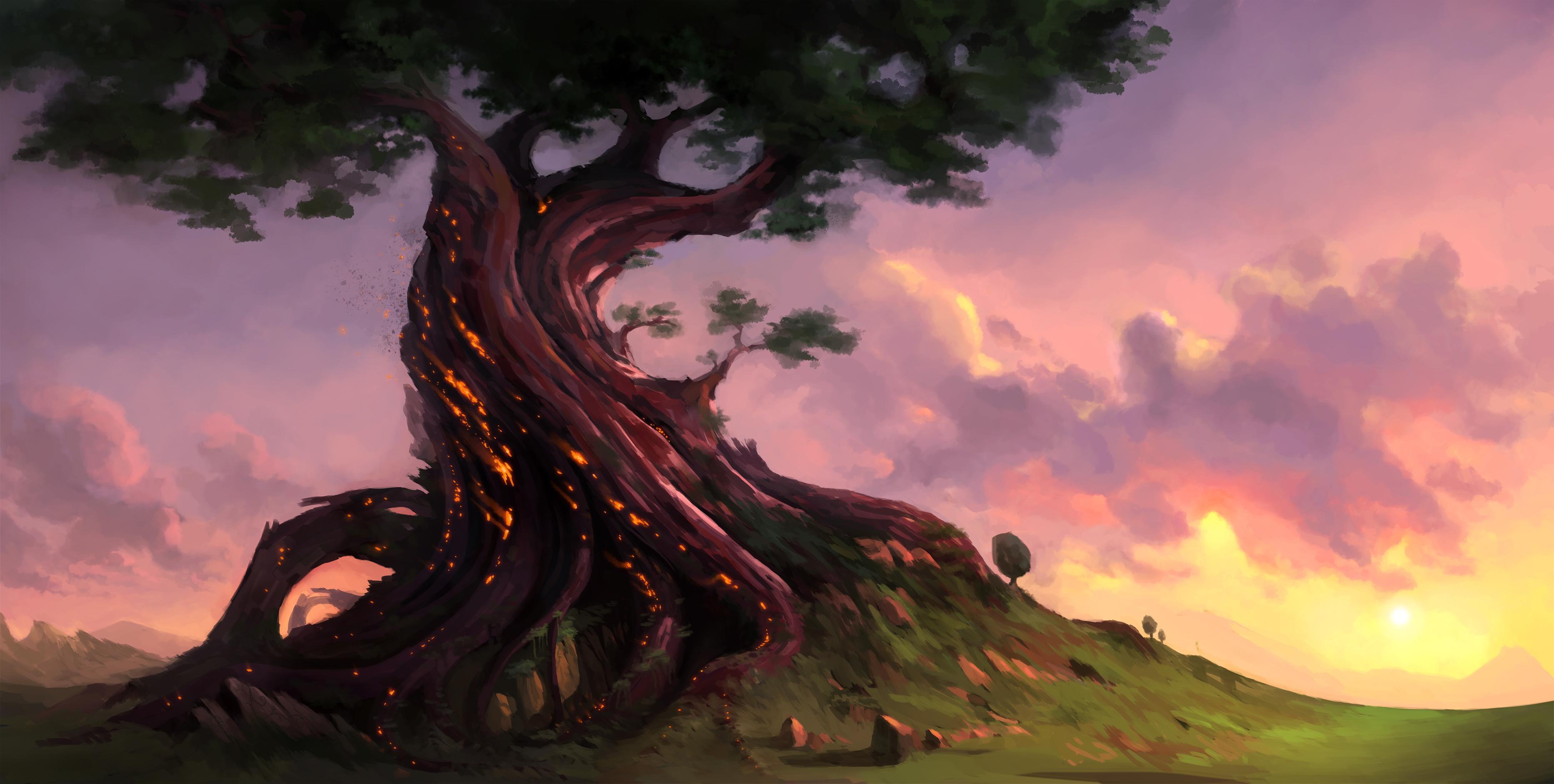 Дерево арт картинки