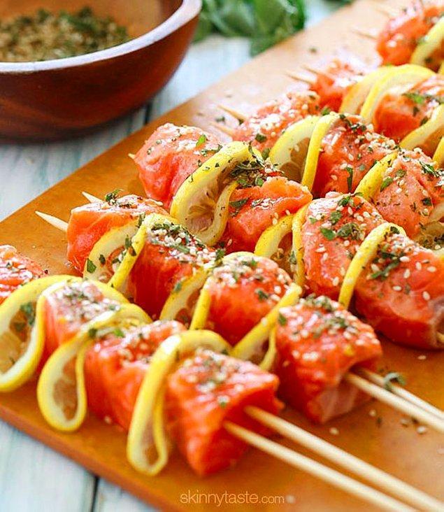 5. Balık+Limon+Taze Kekik+Susam+Sarımsak