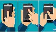 Каким пальцем вы нажимаете на смартфон?