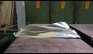 How Many Times Can You Fold Aluminium Foil With A Hydraulic Press Machine?