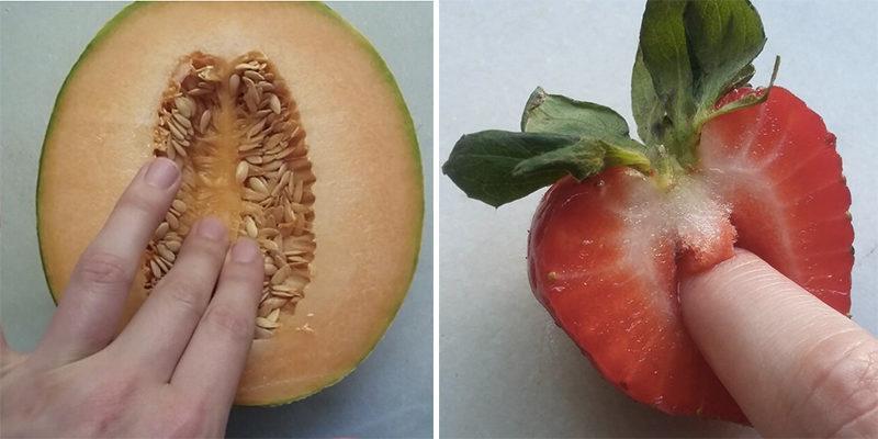 фрукты в разрезе как вагина фото натуризм