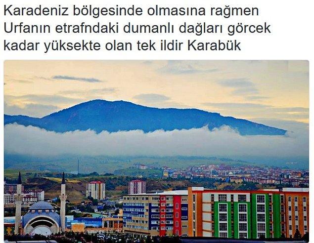 30. Urfa'nın etrafı Karabük Üniversitesi aman aman.
