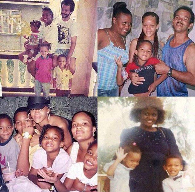 4.İşte Rihanna'nın ailesi;