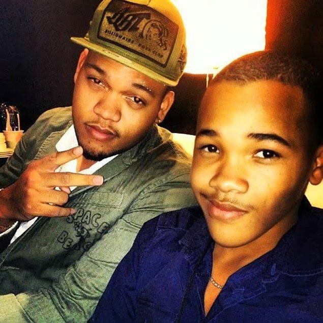6.Rihanna'nın kardeşleri Rorrey ve Rajad.