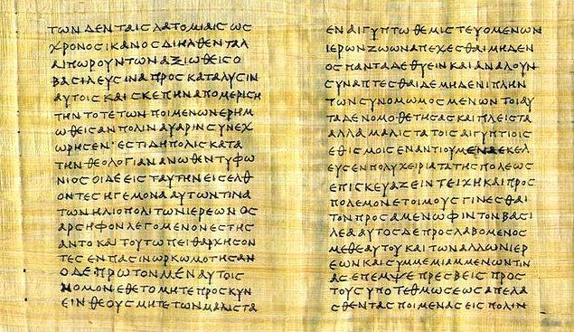 Metin orijin olarak Yunanca yazıldı. Yani içindeki bütün rakamlar, İbranice'de de olduğu gibi kelimelerle ifade ediliyordu.