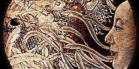 Воздушные гравюры, изображающие связь человека с природой