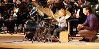 4-летний барабанщик Леня выступил на сцене с оркестром