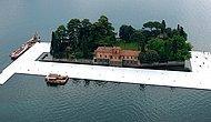 Гулять по воде: первый плавающий мост на озере Изео, Италия