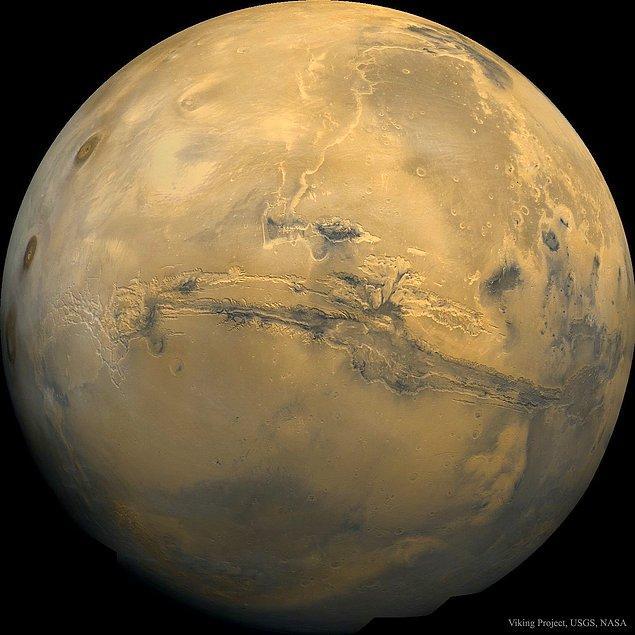 13. Valles Marineris : Mars'ın Büyük Kanyonu